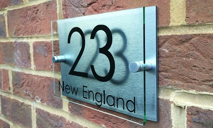 groupon.co.uk - Personalised Handmade House Sign With Free Delivery from UK Sign Shop