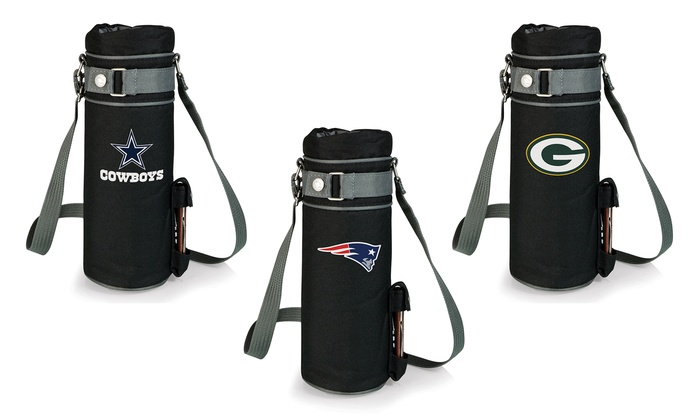 NFL Wine Tote and Stainless Steel Waiter-Style Corkscrew