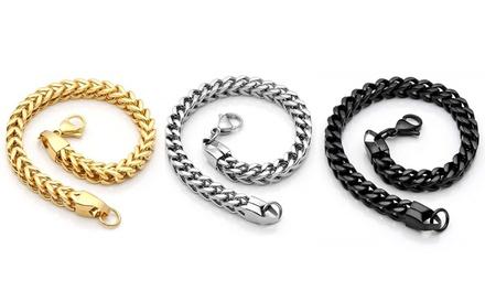 Men's Stainless Steel Franco Bracelets