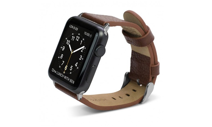 bracelet cuir apple watch x doria groupon. Black Bedroom Furniture Sets. Home Design Ideas
