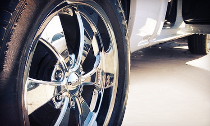 "Fast-N-Clean Car Wash - Multiple Locations: Three, Six, or Nine ""The Works"" Full-Service Car Wash Packages at Fast-N-Clean Car Wash (Up to 67% Off)"