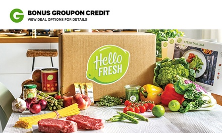 HelloFresh: Weekly Delivered Meal Plans .99 + BONUS Groupon Credit New Customers Only