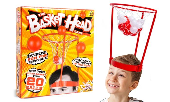 TitoloGioco PMS International Basket Head Game con cappello a canestro e 20 palline