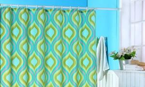 Lavish Home Teardrop-Print Shower Curtain