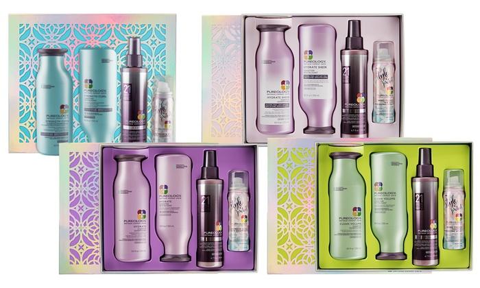Pureology Shampoo Conditioner And Bonus Holiday Gift Set Groupon