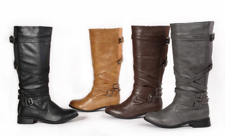 Carrini Women's Trinity Riding Boots. Multiple Colors Available. Free Returns.