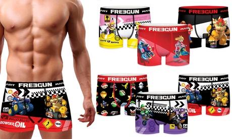 Pack de 3 o 6 boxers Mario Kart de Freegun