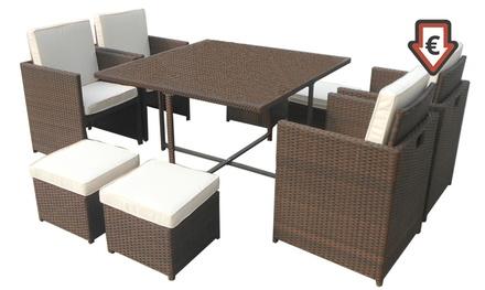 Tavoli Da Giardino Con Sedie A Scomparsa.Set Da Giardino Cortina Con Tavolo E 6 Sedie A 219 Di