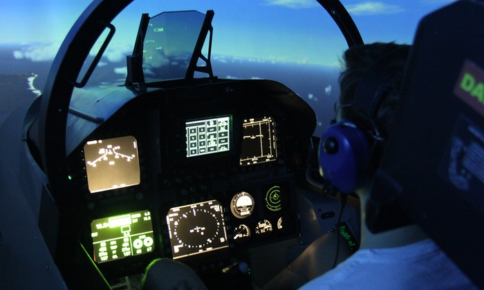 Jet Flight Simulator - Sydney - Jet Flight Simulator: Flight Simulator Experience - 30 ($89), 60 ($129) or 90 Minutes ($189), Alexandria (Up to $399 Value)