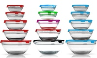 GROUPON: 5-Piece Glass Storage Bowl Set with Lids  5-Piece Glass Storage Bowl Set with Lids