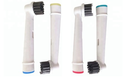 4, 8 of 12 Oral Bcompatibele opzetborstels van houtskool