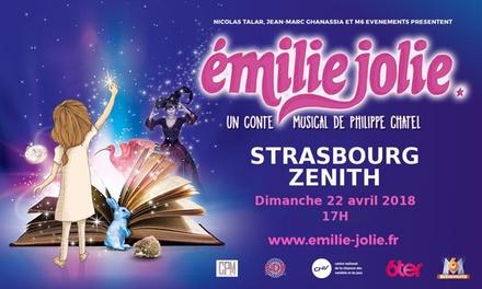1 place en catégorie 1 pour Emilie Jolie, dimanche 22 avril 2018, à 15 € au Zénith de Strasbourg