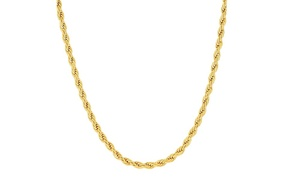 14K Gold 3mm Diamond Cut Rope Chain Necklace by Moricci