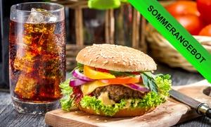 Palm Beach (Zentrale): Burger nach Wahl mit Softgetränk für Zwei oder Vier bei Palm Beach (Zentrale) (bis zu 36% sparen*)