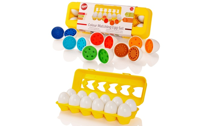 Tippi Set of 12 Colour- and Shape-Matching Eggs