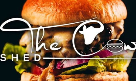 One- or Two-Course Burger Meal for Two at The Cow Shed (Up to 47% Off)