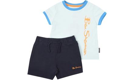 Set de camiseta y pantalón corto para niño Ben Sherman