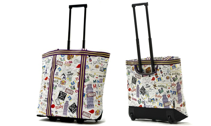 b1ba2402f Up To 63% Off on Olympia USA Rolling Shopper Tote | Groupon Goods