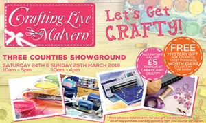 Crafting Live: Two Tickets to Crafting Live, 24 - 25 March at The Severn Hall, Malvern (Up to 50% Off)