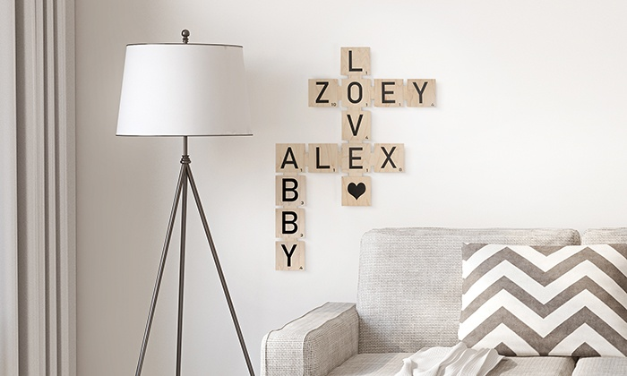 Personalized Wood Scrabble Tiles From Picture It Custom Up To 79 Off