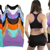 Women's Padded Reversible Racerback Sports Bras (6-Pack)