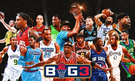 BIG3: 3-on-3 Professional Basketball on Saturday, July 13, at 11:30 a.m.