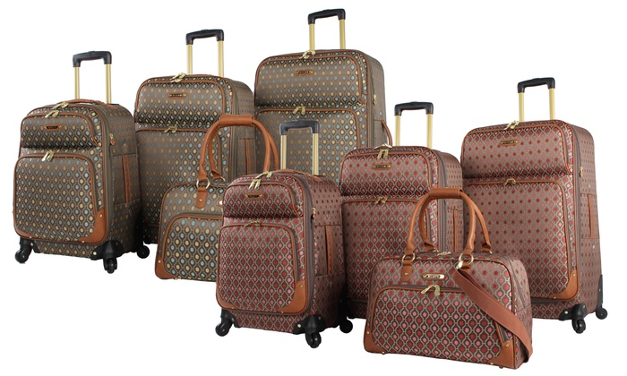 25c8b0ba835b Rosetti Lighten Up Lightweight Spinner Luggage Set (4-Piece)   Groupon