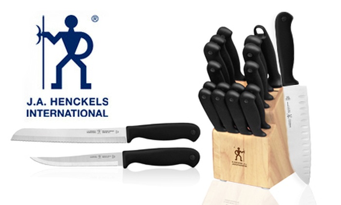 J.A. Henckels 17-Piece Knife Set: $69 for a J.A. Henckels Fine Edge Comfort 17-Piece Knife Set ($109.99 List Price). Free Shipping and Free Returns.
