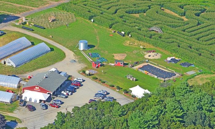 Marini Farm Corn Maze - Marini's Stand: Corn Maze Day Outing for Four or Eight or Night Outing for Four at Marini Farm Corn Maze (Up to 53% Off)
