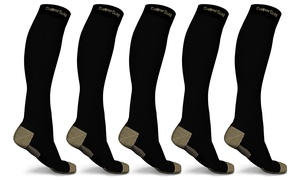 XFit Copper-Gold Premium Compression Socks (5-Pack)
