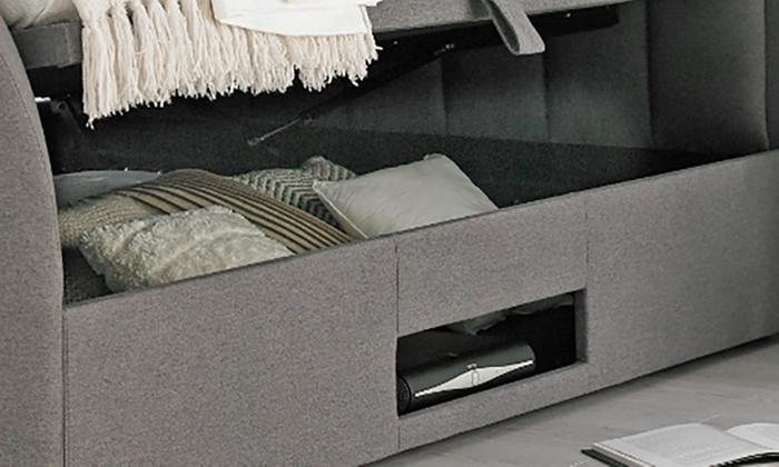 Admirable Ventura Grey Fabric Ottoman Tv Bed Groupon Goods Andrewgaddart Wooden Chair Designs For Living Room Andrewgaddartcom