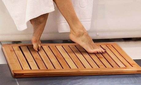 Pedana doccia antiscivolo in legno di bambù con spedizione gratuita