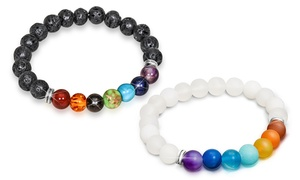 (Exclusive)  Bracelets extensibles Chakra -84% réduction