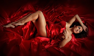 "Imaging Studios: Quickie Boudoir Photo Shoot with a 5""x7"" Print, a Mounted 11""x14"" Print, or Both (Up to 72% Off)"
