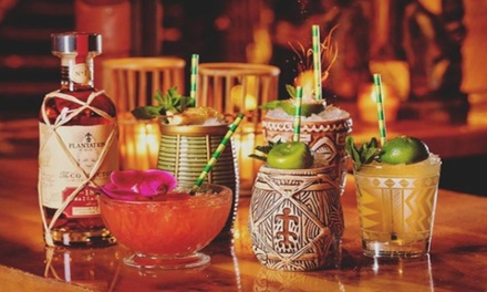 Three or Six Cocktails with Option to Include Two or Four Small Plates for Two or Four at Tropix