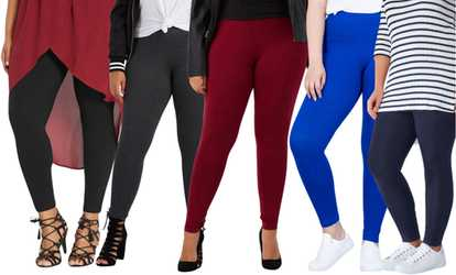 d199e9c2afa8c Shop Groupon Women s Plus Size Cotton Blend Full-Length Leggings
