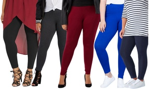 Women's Plus Size Cotton Blend Full-Length Leggings