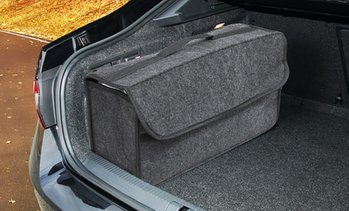 Grey Car Boot Organiser Carpet