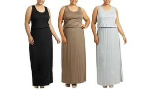 Women's Racerback Flowy Maxi Dress (2-Pack). Plus Sizes Available.