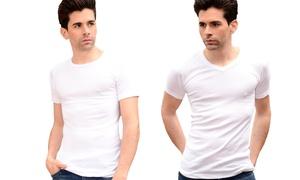 6 t-shirts homme Basic 100% coton