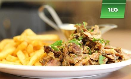עולם האוכל בחיפה: ארוחת בשרים בת 3 מנות ליחיד, הכוללת 13 סלטים ושתייה חמה וקרה ב 35 ₪ בלבד