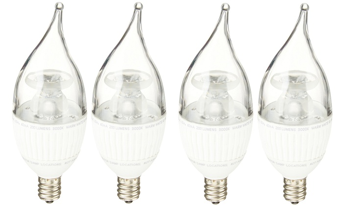 Feit 25W Equivalent Dimmable Flame Tip Chandelier LED Bulbs (10-Pack ...