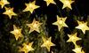 1 ou 2 guirlandes solaires avec étoiles LED