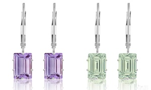 2.00 CTW Amethyst Leverback Earrings by Valencia Gems (1 or 2 Pairs)