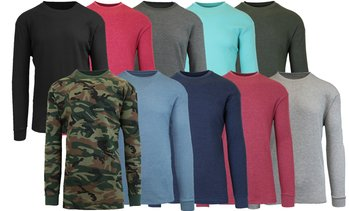 4-Pack Men's Waffle-Knit Thermal Shirts (S-5XL)