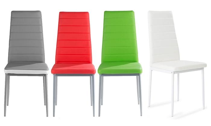lot de chaises similicuir nola - Chaise Simili Cuir