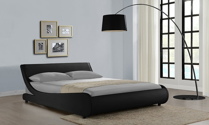 GRS Global Galactic Faux Leather Bedframe