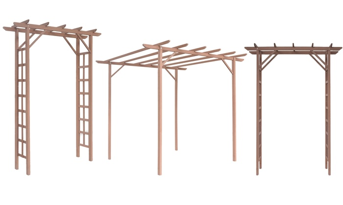 pergola ou arche toit plat groupon. Black Bedroom Furniture Sets. Home Design Ideas