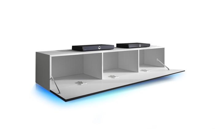 meuble tv lana groupon shopping. Black Bedroom Furniture Sets. Home Design Ideas