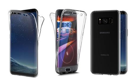 Coque transparente intégrale en 2 parties pour Samsung, livraison gratuite